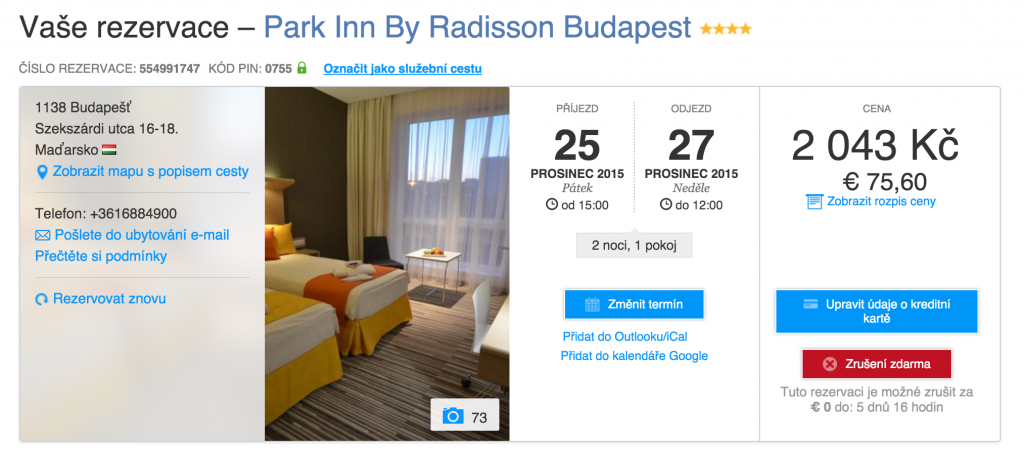 Budapešť přes Booking.com
